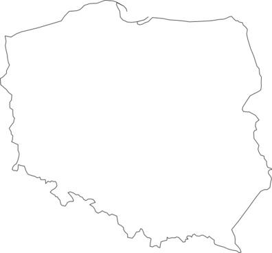 Poland Contour clip art