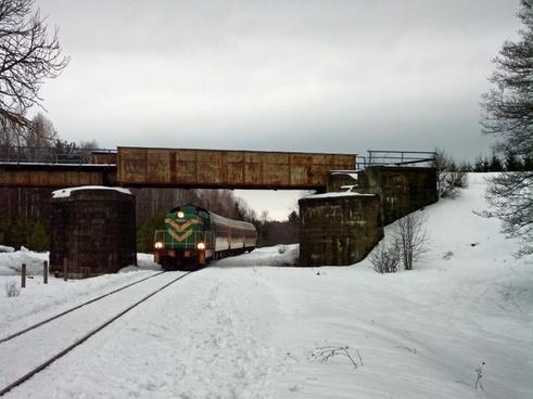 poland landscape train