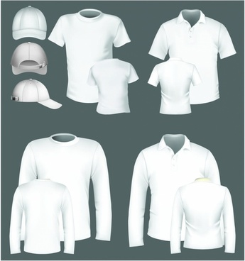 polo shirt and t-shirt design template