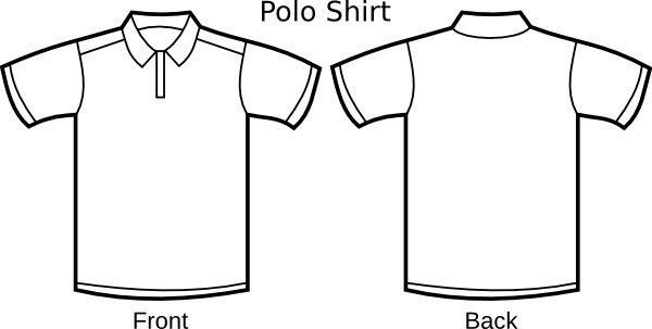 Polo Shirt Template clip art