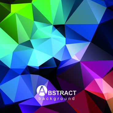 polygon embossment effect background vector