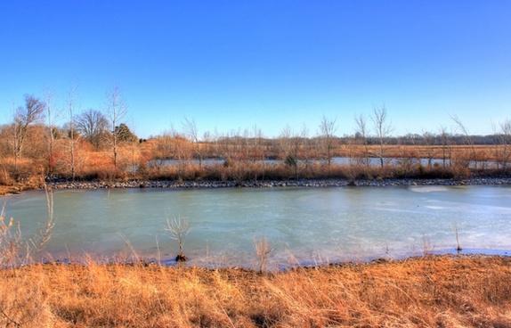 pond near weldon springs at weldon springs state natural area missouri