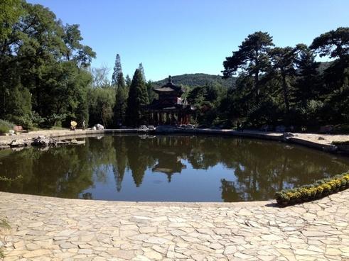 pool in park in beijing china