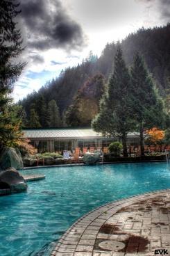 pool spring autumn