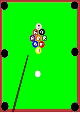 Pool Table clip art