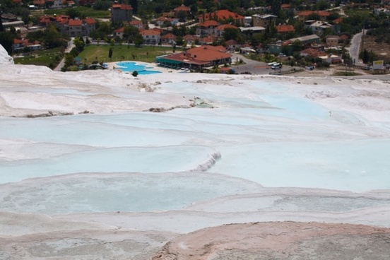 pools and pamukkale town