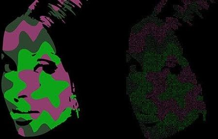 Pop art face free vector