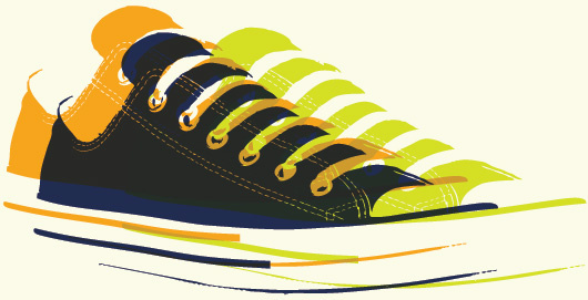 pop art sneakers vector graphic