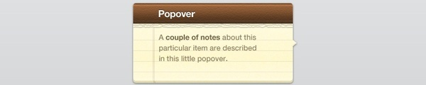 Popover Note