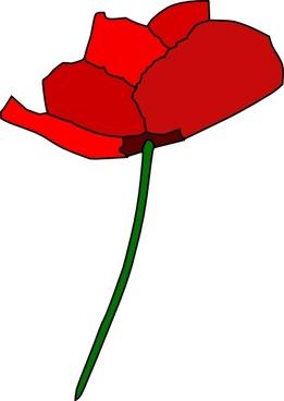 Poppy Flower clip art