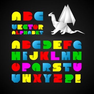 popular english alphabet vector