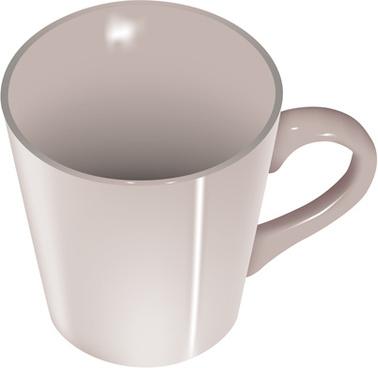 porcelain cup vector