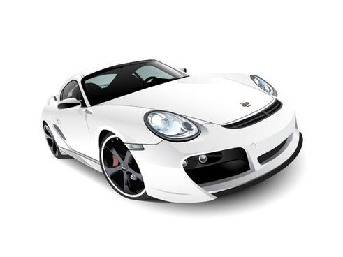 sports car vector illustration with realistic style