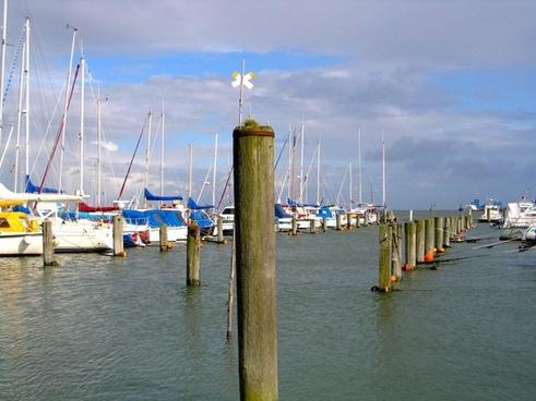 port at the harbor boats