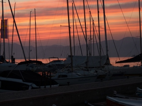 port boats afterglow