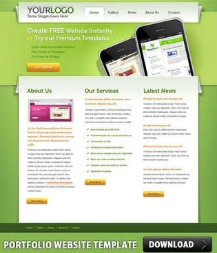 Full Website Template Free Psd Download Free Psd For - Create web page template