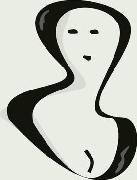 Portrait Of A Woman clip art