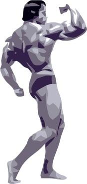 Posing Body Builder clip art