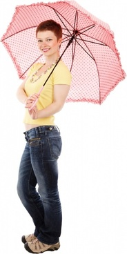 posing with umbrella