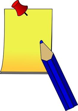 Post It Paper Pen clip art