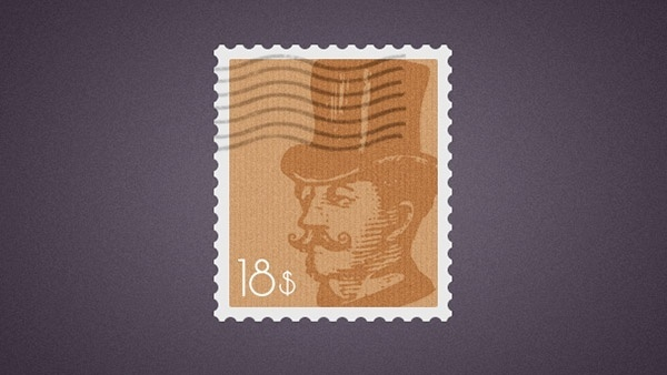 Postage Stamp PSD