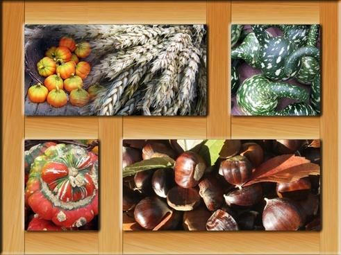poster autumn frame