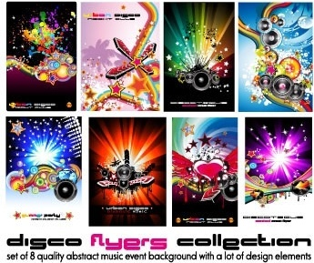 poster dynamic musical elements vector