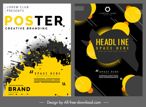poster templates modern abstract grunge design
