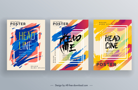 poster templates modern colorful grunge decor