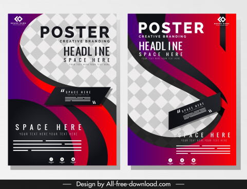 poster templates modern motion design checkered decor