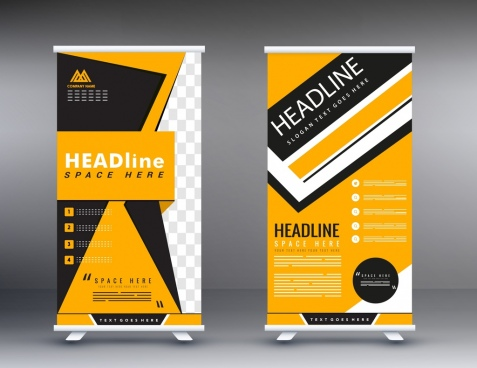 poster templates vertical scroll shape modern design