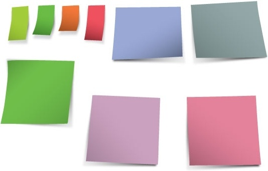 colorful stickers papers vector illustration