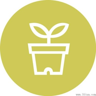 potted small icon vector