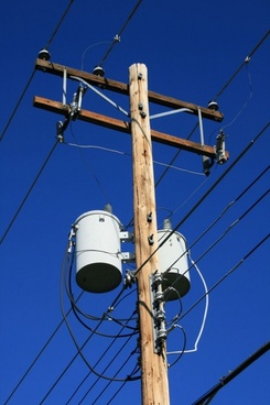 power pole with transformers