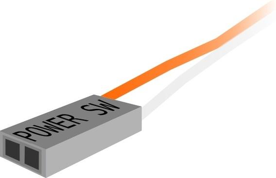 Power Switch Plug clip art