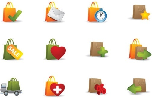 practical bag icon vector