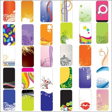 practical elements of the card background vector