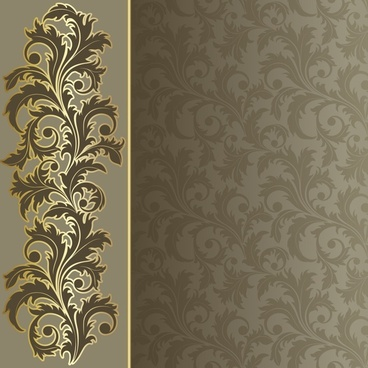 decorative pattern elegant classic floral curves