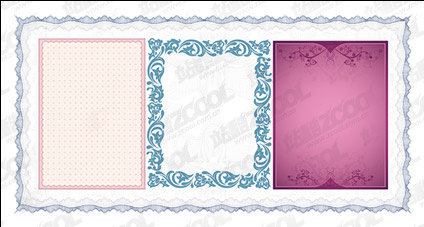 Practical lace border vector material-3