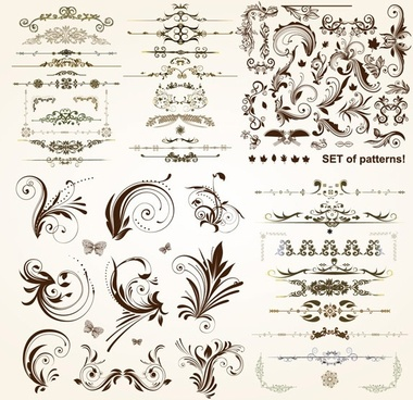 practical lace pattern vector classic europeanstyle