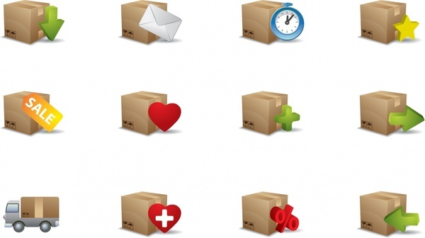 practical small icon vector carton