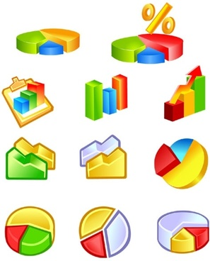 practical statistics class icon vector
