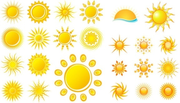practical sun icon vector