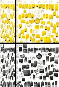 practical tag vector variety of goods