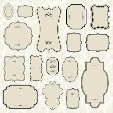 border templates elegant flat classic shapes