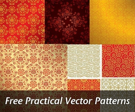 practical patterns sets colorful classical repeating design