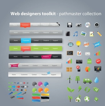 practical web design kit 07 vector