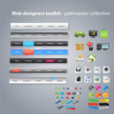 web design elements colorful modern decor