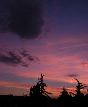 prague sunset 2012