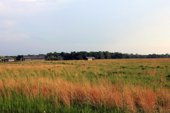 prarie and village at prophetstown state park indiana